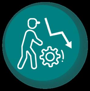Réduction Couts de manutention - icône fond vert